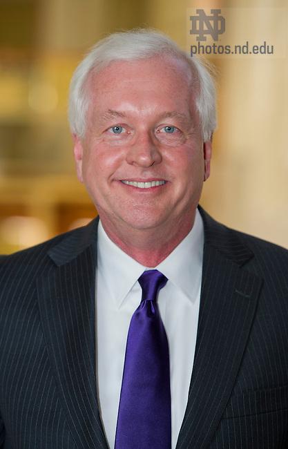 Apr 4, 2013; Prof. Jeff Bergstrand, Mendoza College of Business. Photo by Barbara Johnston/ University of Notre Dame