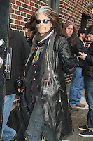 NEW YORK, NY - NOVEMBER 1: Joe Perry of Aerosmith at The Ed Sullivan Theater for an appearance on Late Show with David Letterman in New York City. November 1, 2012. © RW/MediaPunch Inc. /NortePhoto