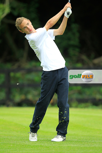 Ryan Corry (Ulster) on the 13th tee during the Boys Under 15 Interprovincial Championship Afternoon Round at the West Waterford Golf Club on Wednesday 22nd August 2013 <br /> Picture:  Thos Caffrey/ www.golffile.ie