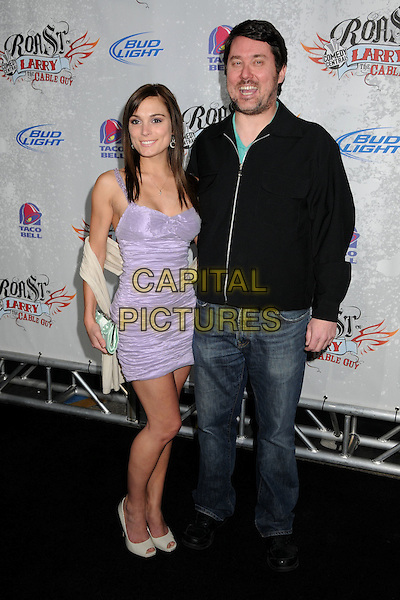 JESSICA ERIN SYLVIA & DOUG BENSON.Comedy Central Roast of Larry The Cable Guy at the Warner Brothers Studios, Burbank, California, USA..March 1st, 2009.full length purple dress black top jeans denim .CAP/ADM/BP.©Byron Purvis/AdMedia/Capital Pictures.