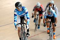 Antony Brown of Auckland finishes first in the Masters Men Cat 2 Keirin at the Age Group Track National Championships, Avantidrome, Home of Cycling, Cambridge, New Zealand, Saturday, March 18, 2017. Mandatory Credit: © Dianne Manson/CyclingNZ  **NO ARCHIVING**