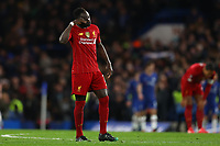 3rd March 2020; Stamford Bridge, London, England; English FA Cup Football, Chelsea versus Liverpool; A dejected Sadio Mane of Liverpool after Ross Barkley of Chelsea scores for 2-0 in the 64th minute - Strictly Editorial Use Only. No use with unauthorized audio, video, data, fixture lists, club/league logos or 'live' services. Online in-match use limited to 120 images, no video emulation. No use in betting, games or single club/league/player publications