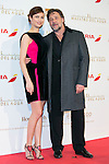 Olga Kurylenko and Russell Crowe attend the The Water Diviner Premiere at Callao Cinemas, Madrid,  Spain. March 26, 2015.(ALTERPHOTOS/)Carlos Dafonte)