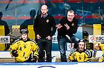Stockholm 2014-11-16 Ishockey Hockeyallsvenskan AIK - IF Bj&ouml;rkl&ouml;ven :  <br /> AIK:s tr&auml;nare huvudtr&auml;nare Peter Nordstr&ouml;m och assisterande tr&auml;nare Michael Nylander i aktion under matchen mellan AIK och IF Bj&ouml;rkl&ouml;ven <br /> (Foto: Kenta J&ouml;nsson) Nyckelord:  AIK Gnaget Hockeyallsvenskan Allsvenskan Hovet Johanneshov Isstadion Bj&ouml;rkl&ouml;ven L&ouml;ven IFB portr&auml;tt portrait tr&auml;nare manager coach