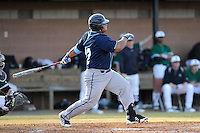 Designated hitter Bo Thompson (22) of the Citadel bats in a game against the University of South Carolina Upstate Spartans on Tuesday, February, 18, 2014, at Cleveland S. Harley Park in Spartanburg, South Carolina. Upstate won, 6-2. (Tom Priddy/Four Seam Images)