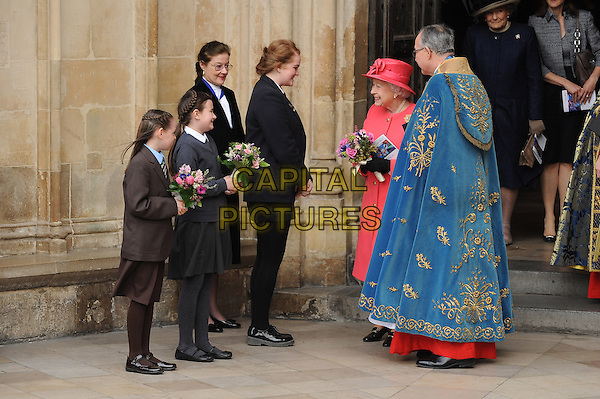 LONDON, ENGLAND - MARCH 10: HRH Queen Elizabeth II attends a Commonwealth Day Observance Service and Reception at Westminster Abbey on March 10, 2014 in London, England.<br /> CAP/BEL<br /> &copy;Tom Belcher/Capital Pictures