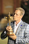 Winning European Team Player Luke Donald (ENG) after Sunday's Singles Matches of the 39th Ryder Cup at Medinah Country Club, Chicago, Illinois 30th September 2012 (Photo Colum Watts/www.golffile.ie)