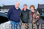 John O'Dwyer with John and Camilla Browne, from Dingle, at the Paidí Ó Sé Deireadh Seachtaine Caide at Paidí's, Ventry, over the weekend.