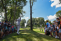 Tiger Woods (USA) watches his second shot on 2 during 3rd round of the World Golf Championships - Bridgestone Invitational, at the Firestone Country Club, Akron, Ohio. 8/4/2018.<br /> Picture: Golffile | Ken Murray<br /> <br /> <br /> All photo usage must carry mandatory copyright credit (© Golffile | Ken Murray)
