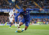 9th November 2019; Stamford Bridge, London, England; English Premier League Football, Chelsea versus Crystal Palace; Reece James of Chelsea - Strictly Editorial Use Only. No use with unauthorized audio, video, data, fixture lists, club/league logos or 'live' services. Online in-match use limited to 120 images, no video emulation. No use in betting, games or single club/league/player publications