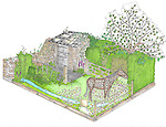 The World Horse Welfare Garden by Adam Woolcott & Jonathan Smith