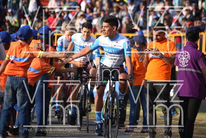 TUNJA - COLOMBIA, 11-02-2020: Equipo ISRAEL START UP NATION (ISR) durante la primera del Tour Colombia 2.1 2020 que se correrá en Boyacá, Colombia entre el 11 y 16 de febrero de 2020. / Team ISRAEL START UP NATION (ISR) during the launch of Tour Colombia 2.1 2020 that that will run between February 11 and 16, 2020 in Boyacá, Colombia.  Photo: VizzorImage / Darlin Bejarano / Cont