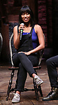 """Karla Garcia from the 'Hamilton' cast during a Q & A before The Rockefeller Foundation and The Gilder Lehrman Institute of American History sponsored High School student #EduHam matinee performance of """"Hamilton"""" at the Richard Rodgers Theatre on June 6, 2018 in New York City."""