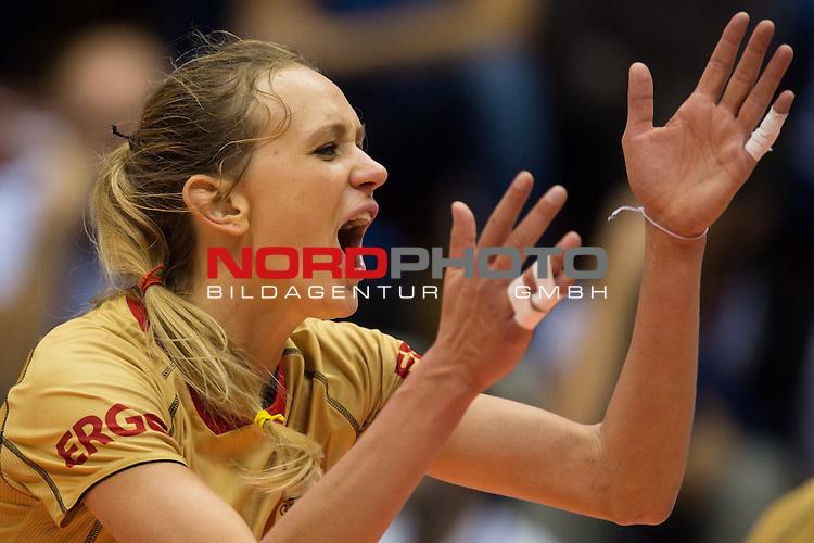 05.10.2014, Pala Trieste, Triest<br /> Volleyball, FIVB Volleyball Women`s World Championship 2014, 2. Runde, Deutschland (GER) vs. Aserbaidschan (AZE)<br /> <br /> Jubel Margareta Kozuch (#14 GER)<br /> <br />   Foto &copy; nordphoto / Kurth