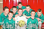 SPORTS: The Ballyduff team who took part in the Indoor Soccer u13 Community Games Finals at Killorglin Sports Complex on Saturday. Front l-r: Kieran OGrady, Mike Sheehy and David Goulding. Back l-r: Mike Rochford, John Dowling, Kevin Bowler, Kieran Kearney and John Hussey..