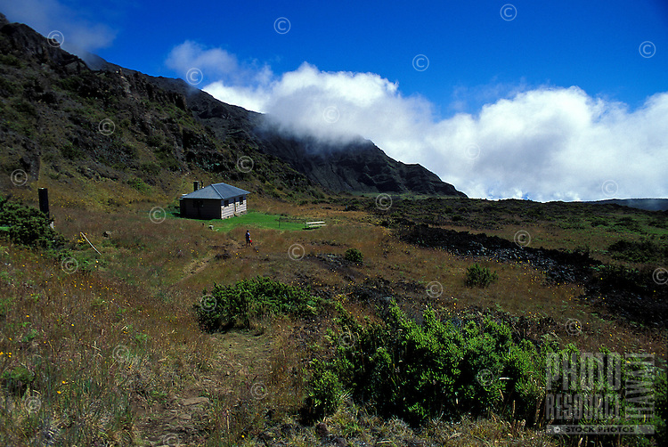 Holua cabin at Haleakala national park, Maui