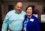 WATERBURY,  CT-050719JS16-Mark Berardi and Ginny O'Rourke at the Waterbury Youth Services Grill & Chill event held at the Country Club of Waterbury. Waterbury Youth Services are celebrating 43 years of helping area youth. <br /> Jim Shannon Republican American
