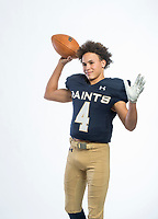 NWA Democrat-Gazette/BEN GOFF @NWABENGOFF<br /> Jaiden Henry of Shiloh Christian, division II football newcomer of the year, poses for a photo Tuesday, Dec. 11, 2018, at the Northwest Arkansas Democrat-Gazette studio in Springdale.