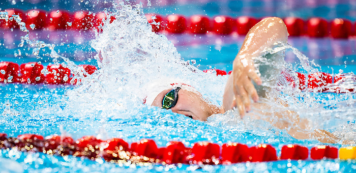 Lima, Peru -  26/August/2019 - Tyson MacDonald competes in the men's 200m freestyle S14 at the Parapan Am Games in Lima, Peru. Photo: Dave Holland/Canadian Paralympic Committee.