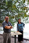 46 year old author, Khoo Salma Nasution poses with her 51 year old author husband, Abdur Razzaq Lubis in the UNESCO heritage city of Georgetown in Penang, Malaysia. Photo: Sanjit Das/Panos