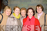 SWEET MUSIC: Ladies who travelled to attend the Phil Coulter Concert in The Church of The Assumption Abbeyfeale on Friday night were Ita Kelly (NCW), Teresa Burke (Broadford), Noreen Murphy (NCW), Eileen Lucey (Cork) and Eileen O'Neill (Limerick).