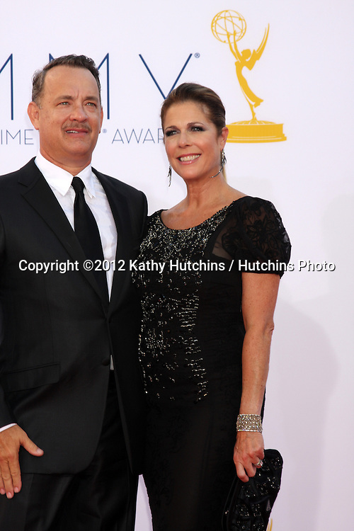 LOS ANGELES - SEP 23:  Tom Hanks, Rita Wilson arrives at the 2012 Emmy Awards at Nokia Theater on September 23, 2012 in Los Angeles, CA