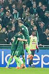 12.03.2018, Weser Stadion, Bremen, GER, 1.FBL, Werder Bremen vs 1.FC Koeln, im Bild<br /> <br /> Jubel 1 zu 0 Milot Rashica (Neuzugang Werder Bremen #11) mit Theodor Gebre Selassie (Werder Bremen #23)<br /> Milot Rashica (Neuzugang Werder Bremen #11)<br /> <br /> <br /> Foto &copy; nordphoto / Kokenge