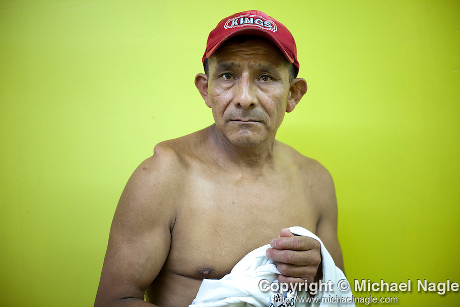 STATEN ISLAND  --  JULY 29, 2010:   Francisco Morales, 52, (from Oaxaca, Mexico) works in a Mexican store in the Port Richmond neighborhood of Staten Island on July 29, 2010.  Six months ago Morales was attacked by a group of 5 African-American males while making a delivery.  (PHOTOGRAPH BY MICHAEL NAGLE).