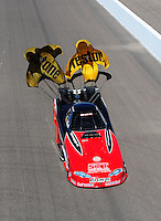 Oct. 16, 2011; Chandler, AZ, USA; NHRA funny car driver Jeff Diehl during the Arizona Nationals at Firebird International Raceway. Mandatory Credit: Mark J. Rebilas-