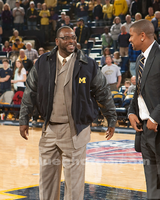 University of Michigan men's basketball 80-58 victory over Gardner Webb in the Legends Classic at Crisler Arena in Ann Arbor, MI, on November 21, 2010. The victory marked the 600th victory for Coach John Beilein.