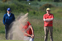 Devin Morley (Oughterard) on the 17th green during Round 4 of the East of Ireland Amateur Open Championship 2018 at Co. Louth Golf Club, Baltray, Co. Louth on Monday 4th June 2018.<br /> Picture:  Thos Caffrey / Golffile<br /> <br /> All photo usage must carry mandatory copyright credit (&copy; Golffile | Thos Caffrey)