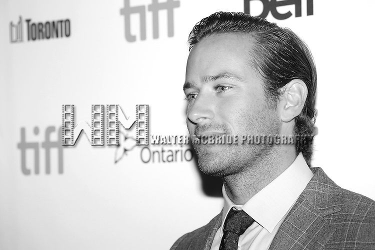 Armie Hammer attends the 'The Birth of a Nation' Red Carpet Premiere during the 2016 Toronto International Film Festival premiere at Princess of Wales Theatre on September 9, 2016 in Toronto, Canada.