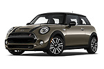Stock pictures of low aggressive front three quarter view of a 2019 Mini Hardtop 2 Door Cooper S Signature 3 Door Hatchback