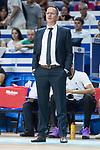 Donar Groningen coach Erik Braal during Basketball Champions League match between Movistar Estudiantes and Donar Groningen at Wizink Center in Madrid, Spain October 02, 2017. (ALTERPHOTOS/Borja B.Hojas)