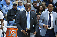 CHAPEL HILL, NC - FEBRUARY 25: Assistant coach Steve Robinson of the University of North Carolina during a game between NC State and North Carolina at Dean E. Smith Center on February 25, 2020 in Chapel Hill, North Carolina.