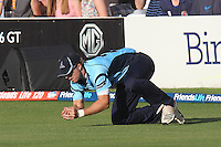 Chris Nash takes a catch to dismiss Mark Pettini of Essex - Essex Eagles vs Sussex Sharks - Friends Life T20 Cricket at the Ford County Ground, Chelmsford, Essex - 28/06/12 - MANDATORY CREDIT: Gavin Ellis/TGSPHOTO - Self billing applies where appropriate - 0845 094 6026 - contact@tgsphoto.co.uk - NO UNPAID USE.