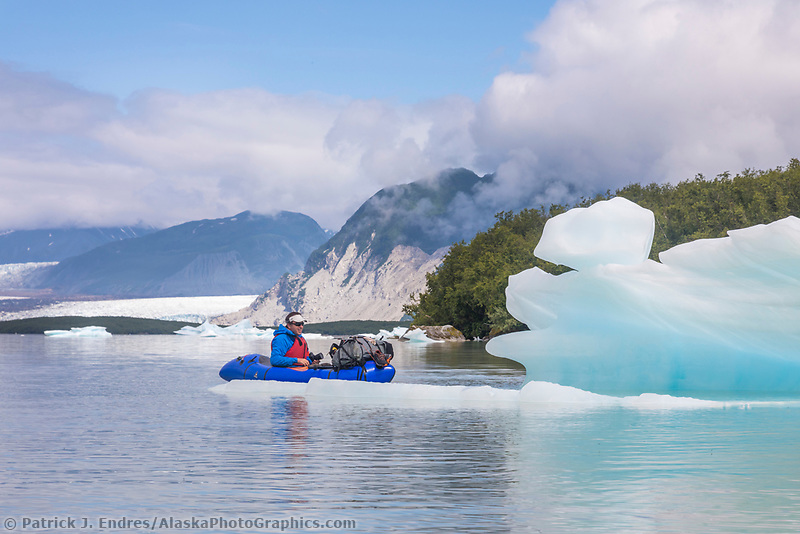 Grand Plateau lake and glacier, Glacier Bay National Park, Southeast, Alaska