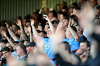 Bolton Wanderers fans during the second half<br /> <br /> Photographer Chris Vaughan/CameraSport<br /> <br /> The EFL Sky Bet League One - Scunthorpe United v Bolton Wanderers - Saturday 8th April 2017 - Glanford Park - Scunthorpe<br /> <br /> World Copyright &copy; 2017 CameraSport. All rights reserved. 43 Linden Ave. Countesthorpe. Leicester. England. LE8 5PG - Tel: +44 (0) 116 277 4147 - admin@camerasport.com - www.camerasport.com