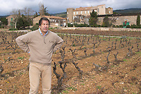 Michel Julien Chateau Villerambert-Julien near Caunes-Minervois. Minervois. Languedoc. Owner winemaker. France. Europe. Vineyard.