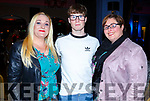 Attending the John Mitchels Lip Sync in the Ballygarry House Hotel on Sunday night.<br />  L-r, Sandra O&rsquo;Sullivan, Michael Lacey and Noelle Robb