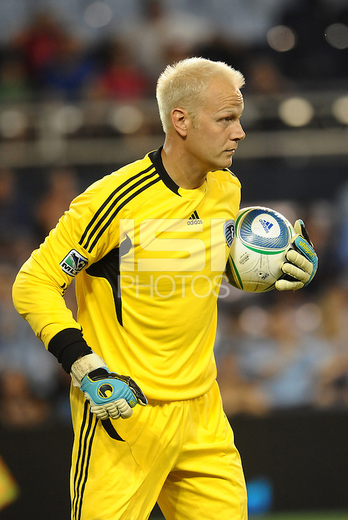 Jimmy Nielsen goalkeeper Sporting KC... Sporting Kansas City were defeated 1-2 by Seattle Sounders at LIVESTRONG Sporting Park, Kansas City, Kansas.