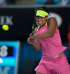Madison Keys (USA) defeated Madison Brengle (USA) 6-2, 6-4 at the Australian Open being played at Melbourne Park in Melbourne, Australia on January 26, 2015