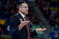 Valencia Basket's coach Pedro Martinez during Quarter Finals match of 2017 King's Cup at Fernando Buesa Arena in Vitoria, Spain. February 17, 2017. (ALTERPHOTOS/BorjaB.Hojas) /Nortephoto.com