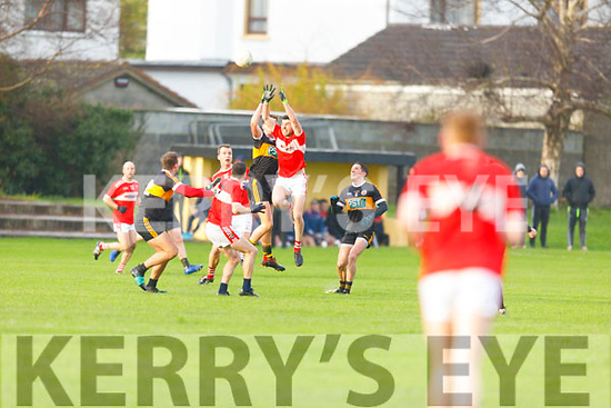 High fielding action from Austin Stacks v Dingle in the County Football league Division 1play off in Connolly Park on Sunday.