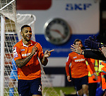 Picture by David Horn/eXtreme Aperture Photography +44 7545 970036<br /> 26/11/2013<br /> Andre Gray of Luton Town celebrates scoring his team's third goal to make it 3-0 during the Skrill Premier match at Kenilworth Road, Luton.