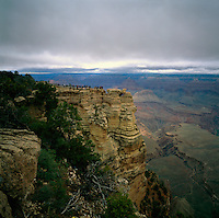 Grand Canyon National Park, Arizona, USA - Scenic View from South Rim overlooking Grand Canyon
