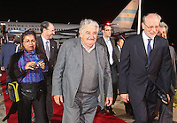 LIMA,PER&Uacute;-18/04/2013. Arribo del Presidente de Uruguay, Jos&eacute; Mujica, para la reuni&oacute;n UNASUR en Palacio de Gobierno. <br /> &copy; ANDINA/OscarFarje/NortePhoto