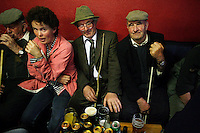 The scene at the Cross of Spancilhill bar where men and women take a break during the horse fair to catch up with old friends.Each year on the 23rd of June, the nearby Fair Green is used for the famous Spancilhill Horse Fair. At one time, Spancil hill was said to be Ireland's largest fair with buyers from Britain, Russia, Prussia, and France competing to purchase the best stock for their Imperial armies.