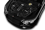 Car Stock 2016 Bentley Continental-GT V8 3 Door Coupe Engine  high angle detail view