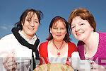 COFFEE BREAK: Enjoying the delights of  the  Meningitis Trust Coffee Morning and Fun Day at the Duagh family Resource Centre on Friday last were Philomena Bates, Margaret Shanahan and Katie Flynn.